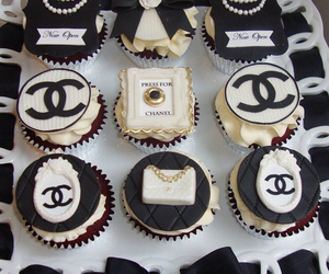 cupcake, chanel, and black image