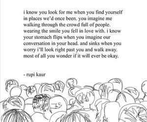 rupi kaur, poem, and poetry image