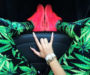 weed, nike, and swag image