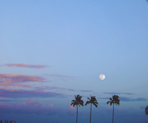 sky, moon, and beach image
