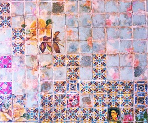 theme, pink, and tiles image