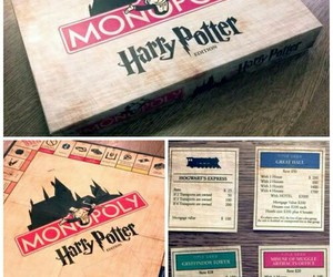 monopoly, harry potter, and book image