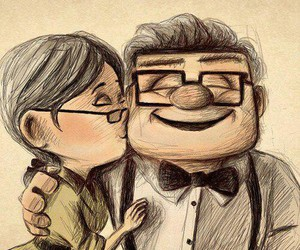love, up, and couple image