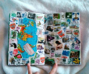 map, stamps, and wreck this journal image