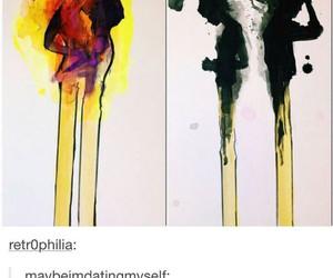 art, burn, and drawing image
