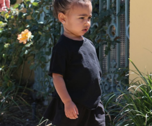 north west and baby image