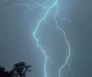 grunge, blue, and lightning image