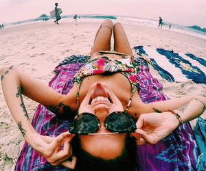 beach, sunglasses, and inspo image