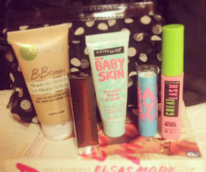 makeup, Maybelline, and pink image