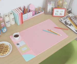 pink and study image