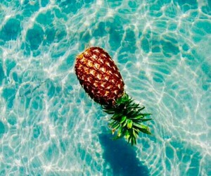 blue, pineapple, and water image