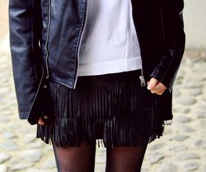 black, fashion, and fringes image