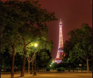 eiffel, night, and paris image