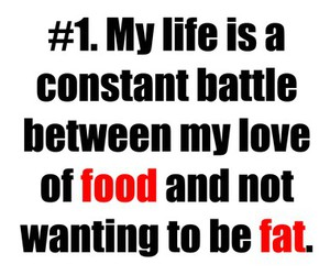 food, fat, and quote image