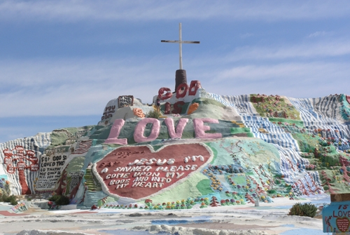 california, girly, and salvation mountain image