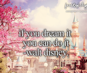 Dream, disney, and walt disney image