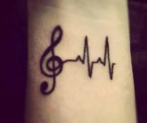 music, tattoo, and life image
