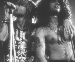 axl rose, Hot, and black and white image
