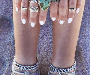 rings, boho, and nails image