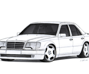 drawing, mercedes, and e-class image