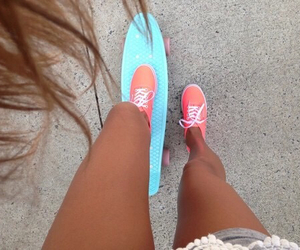 summer, vans, and skate image