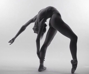 beautiful, dancer, and black and white image