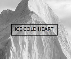 black, ice, and quote image