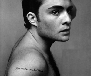 chuck bass, tattoo, and handsome image