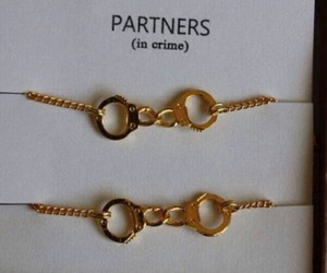bracelet, partner, and crime image