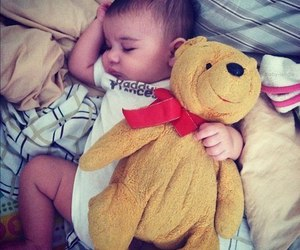 baby and teddy image