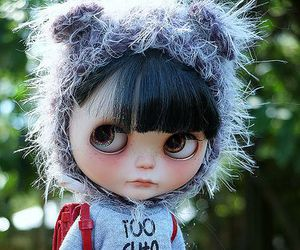 hat, blythe dolls, and cute image