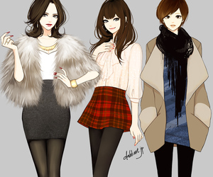 girl, dahlia, and fashion image