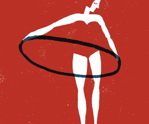 red, hula hoop, and illustration image