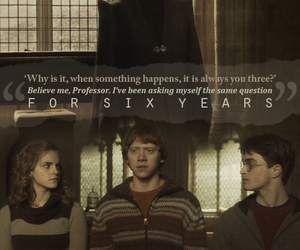 harry potter, hermione, and harry image
