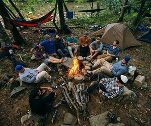friends, camping, and boy image