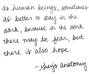 grey's anatomy, quote, and hope image