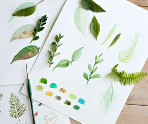 art, green, and nature image