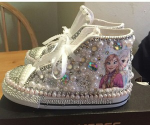bling, converse, and custom sneakers image