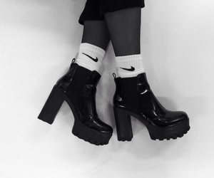 black, boots, and chunky image