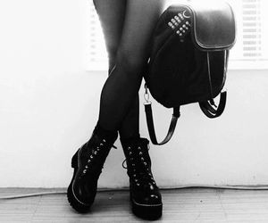 black, black and white, and shoes image