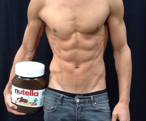nutella, boy, and Hot image