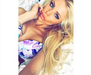 bikini, blonde, and girls image