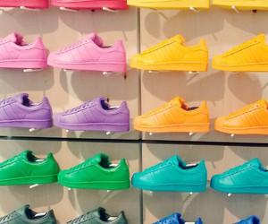 superstar, adidas, and blue image