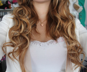 hair, blonde, and curly hair image