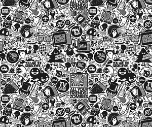 black & white, funny, and wallpaper image