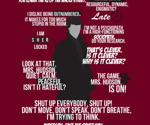 sherlock holmes, bbc, and quote image