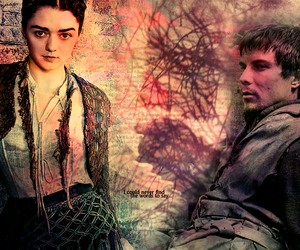 arya, game of thrones, and gendry image