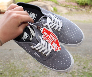 vans, shoes, and grey image