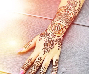henna, nails, and pink image