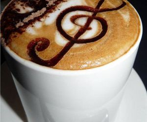 coffee, music, and drink image
